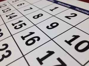 Kalender-Nahaufnahme