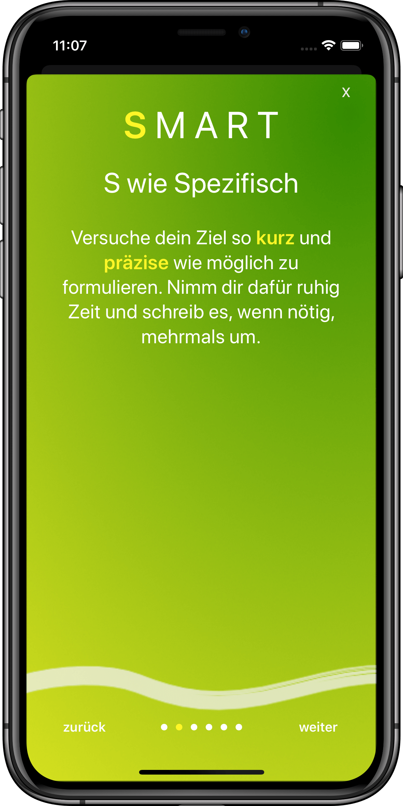 Zielsetzungs App GoalJo