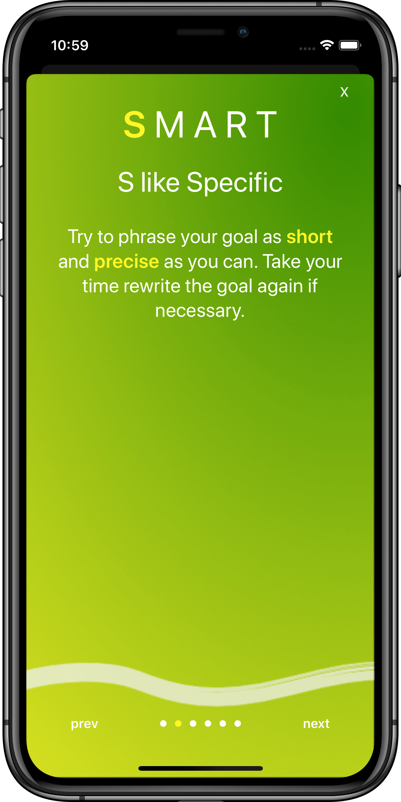 Goal Setting App GoalJo